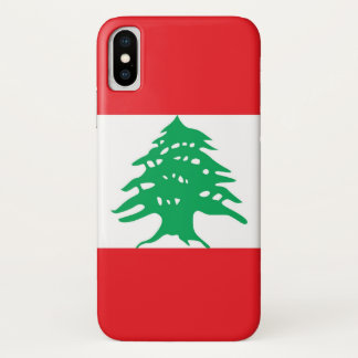 Patriotic Iphone X Case with Flag of Lebanon