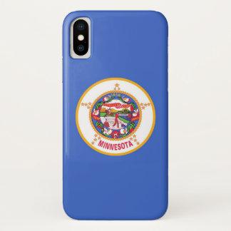 Patriotic Iphone X Case with Flag of Minnesota