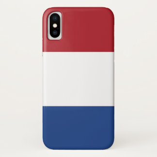 Patriotic Iphone X Case with Flag of Netherlands