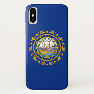 Patriotic Iphone X Case with Flag of New Hampshire