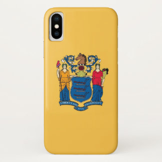 Patriotic Iphone X Case with Flag of New Jersey