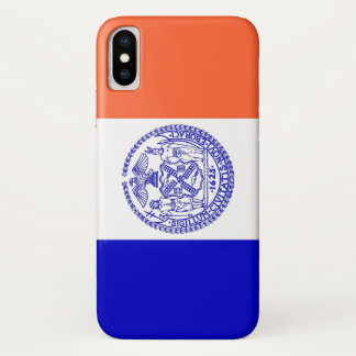 Patriotic Iphone X Case with Flag of New York City