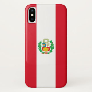 Patriotic Iphone X Case with Flag of Peru