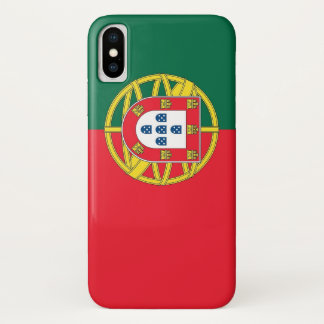 Patriotic Iphone X Case with Flag of Portugal