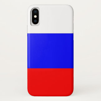 Patriotic Iphone X Case with Flag of Russia