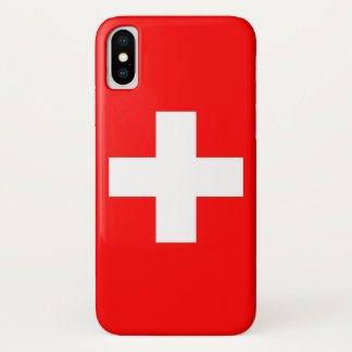 Patriotic Iphone X Case with Flag of Switzerland