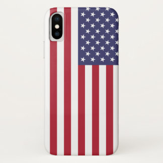 Patriotic Iphone X Case with Flag of USA