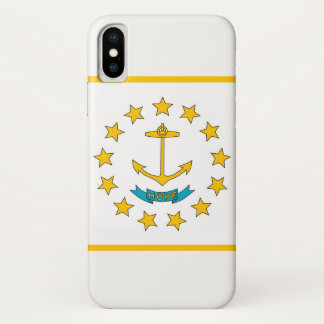 Patriotic Iphone X Case with Rhode Island Flag