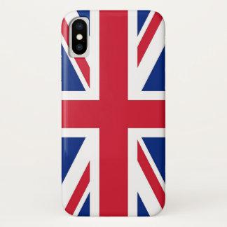 Patriotic Iphone X Case with United Kingdom Flag