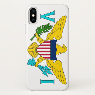 Patriotic Iphone X Case with Virgin Islands Flag