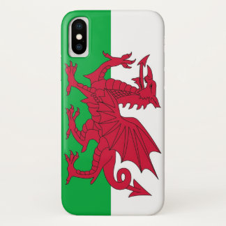 Patriotic Iphone X Case with Wales Flag