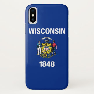 Patriotic Iphone X Case with Wisconsin State Flag