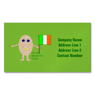 Patriotic Irish Egg Custom Business Card Magnet