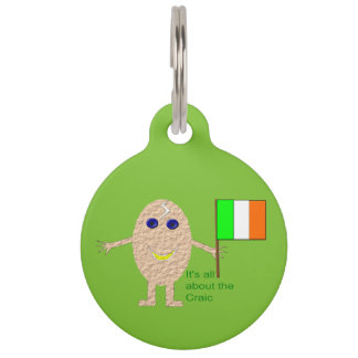 Patriotic Irish Egg Custom Dog Tag