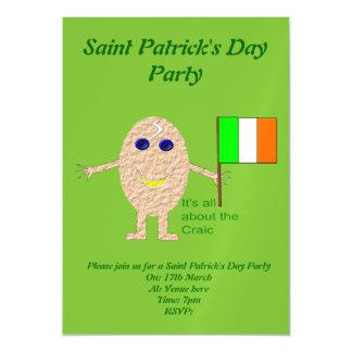 Patriotic Irish Egg Custom Invite