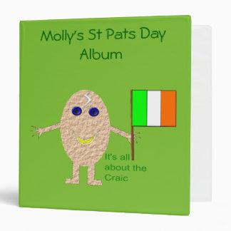 Patriotic Irish Egg Photo Album Vinyl Binders