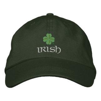 Patriotic Irish Shamrock Embroidered Hat