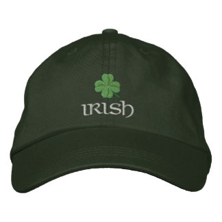 Patriotic Irish Shamrock Embroidered Hat
