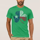 Patriotic Irish Texas Flag Shamrock Vintage Fade T-Shirt