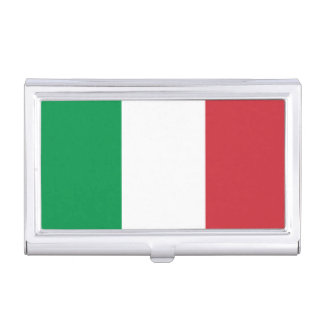 Patriotic Italian Flag Business Card Holder