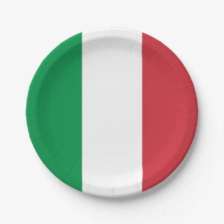 Patriotic Italian Flag Paper Plate