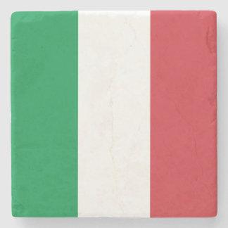 Patriotic Italian Flag Stone Coaster
