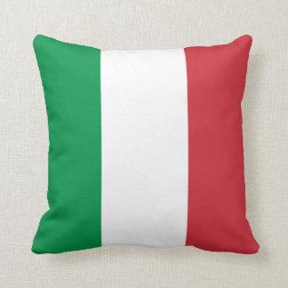 Patriotic Italian Flag Throw Pillow