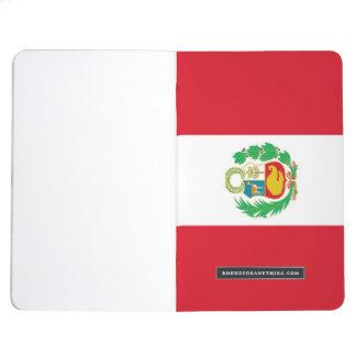 Patriotic journal with Flag of Peru