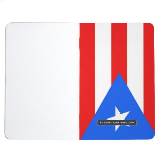 Patriotic journal with Flag of Puerto Rico