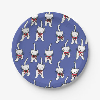 Patriotic Kittens on Paper Plates 7 Inch Paper Plate