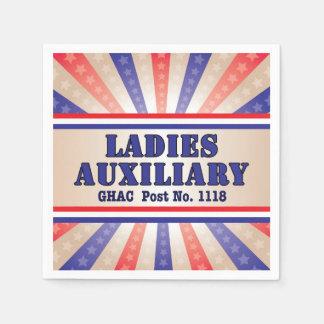 Patriotic Ladies Auxiliary napkins Disposable Napkin
