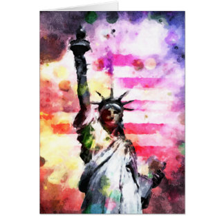 Patriotic Lady of Liberty Card