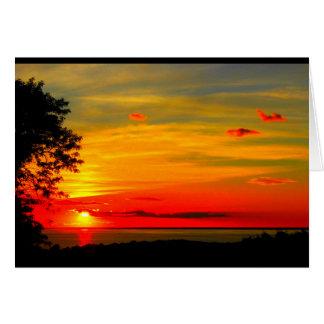 Patriotic Lake Winnebago Sunset Thinking Of You Card