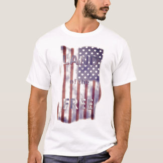 Patriotic Land of the Free American Flag Men's T-Shirt