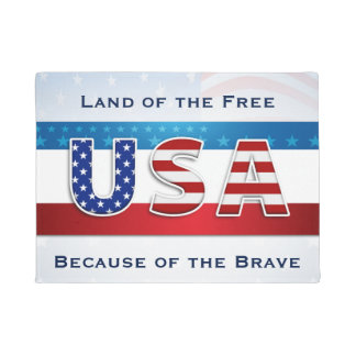 Patriotic - Land of the Free Doormat