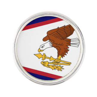 Patriotic lapel pin with Flag of American Samoa