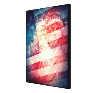 Patriotic Liberty Collage Gallery Wrapped Canvas
