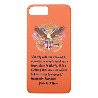Patriotic Liberty Peace Autumn Orange iPhone 7 Plus Case