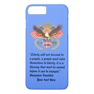 Patriotic Liberty Peace Baby Blue iPhone 7 Plus Case