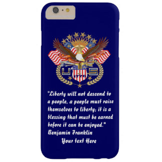 Patriotic Liberty Peace Deep Navy Blue Barely There iPhone 6 Plus Case
