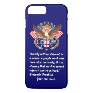 Patriotic Liberty Peace Deep Navy Blue iPhone 7 Plus Case