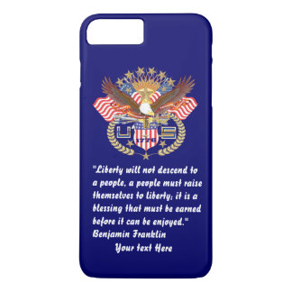 Patriotic Liberty Peace Deep Navy Blue iPhone 8 Plus/7 Plus Case