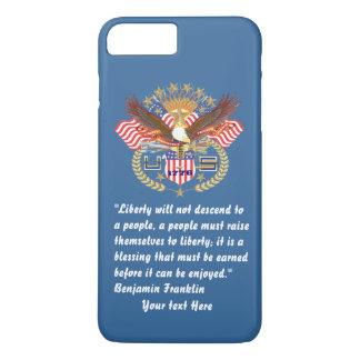 Patriotic Liberty Peace Desert Blue iPhone 7 Plus Case