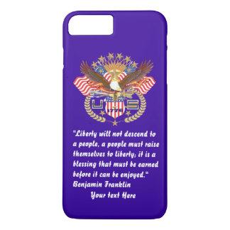 Patriotic Liberty Peace Storm Blue iPhone 7 Plus Case