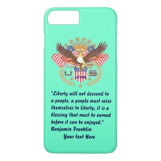 Patriotic Liberty Peace Turquoise iPhone 7 Plus Case