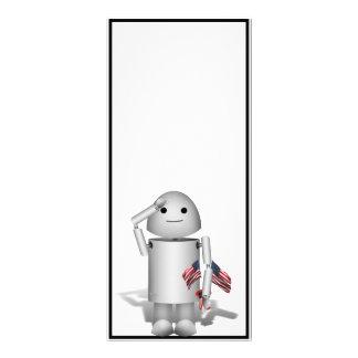 Patriotic Little Robo-x9 Rack Card Template