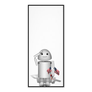 Patriotic Little Robo-x9 Personalized Rack Card
