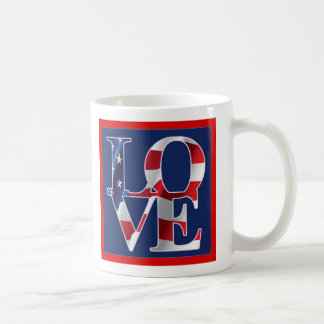 Patriotic Love America Coffee Mugs