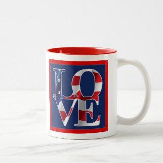 Patriotic Love and Valentine's Day Coffee Mugs