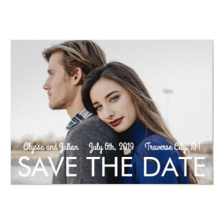 Patriotic Love II Fourth of July Save The Date Card